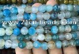 CAA3005 15 inches 8mm faceted round fire crackle agate beads wholesale