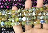 CAA3011 15 inches 8mm faceted round fire crackle agate beads wholesale