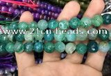CAA3046 15 inches 10mm faceted round fire crackle agate beads wholesale