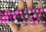 CAA3060 15 inches 10mm faceted round fire crackle agate beads wholesale