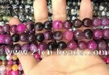 CAA3069 15 inches 10mm faceted round fire crackle agate beads wholesale