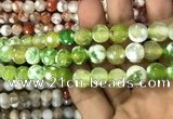 CAA3079 15 inches 10mm faceted round fire crackle agate beads wholesale