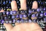 CAA3091 15 inches 10mm faceted round fire crackle agate beads wholesale