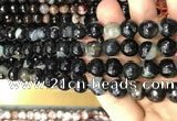 CAA3093 15 inches 10mm faceted round fire crackle agate beads wholesale