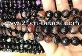 CAA3094 15 inches 10mm faceted round fire crackle agate beads wholesale