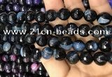 CAA3097 15 inches 10mm faceted round fire crackle agate beads wholesale