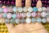 CAA3139 15 inches 12mm faceted round fire crackle agate beads wholesale