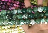 CAA3184 15 inches 14mm faceted round fire crackle agate beads wholesale