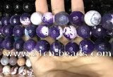 CAA3241 15 inches 16mm faceted round fire crackle agate beads wholesale