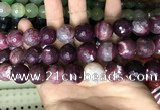 CAA3244 15 inches 16mm faceted round fire crackle agate beads wholesale