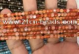 CAA3264 15 inches 4mm faceted round agate beads wholesale