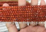CAA3265 15 inches 4mm faceted round agate beads wholesale