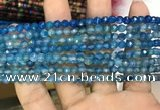 CAA3267 15 inches 4mm faceted round agate beads wholesale