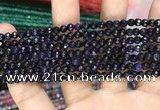 CAA3270 15 inches 4mm faceted round agate beads wholesale