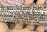 CAA3274 15 inches 4mm faceted round agate beads wholesale