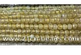 CAA3291 15 inches 6mm faceted round agate beads wholesale