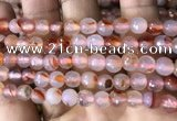 CAA3302 15 inches 6mm faceted round agate beads wholesale