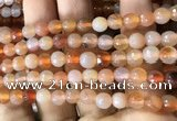 CAA3303 15 inches 6mm faceted round agate beads wholesale