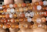 CAA3304 15 inches 6mm faceted round agate beads wholesale