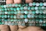CAA3309 15 inches 6mm faceted round agate beads wholesale