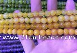 CAA3331 15 inches 8mm faceted round agate beads wholesale