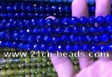 CAA3336 15 inches 8mm faceted round agate beads wholesale