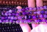 CAA3338 15 inches 8mm faceted round agate beads wholesale