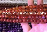 CAA3340 15 inches 8mm faceted round agate beads wholesale