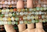 CAA3345 15 inches 8mm faceted round agate beads wholesale