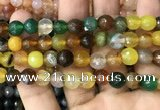CAA3347 15 inches 8mm faceted round agate beads wholesale