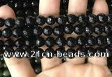 CAA3350 15 inches 8mm faceted round agate beads wholesale