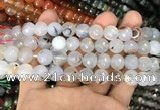 CAA3362 15 inches 10mm faceted round agate beads wholesale