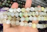 CAA3363 15 inches 10mm faceted round agate beads wholesale