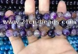 CAA3366 15 inches 10mm faceted round agate beads wholesale