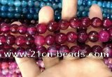 CAA3369 15 inches 10mm faceted round agate beads wholesale