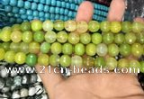 CAA3372 15 inches 10mm faceted round agate beads wholesale