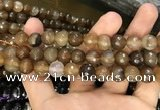 CAA3378 15 inches 10mm faceted round agate beads wholesale