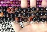 CAA3380 15 inches 10mm faceted round agate beads wholesale