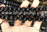 CAA3381 15 inches 10mm faceted round agate beads wholesale