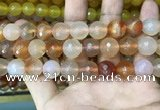 CAA3396 15 inches 12mm faceted round agate beads wholesale