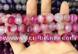 CAA3399 15 inches 12mm faceted round agate beads wholesale