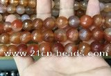CAA3400 15 inches 12mm faceted round agate beads wholesale