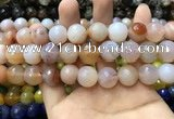 CAA3421 15 inches 14mm faceted round agate beads wholesale
