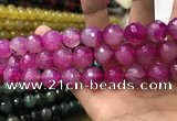 CAA3425 15 inches 14mm faceted round agate beads wholesale