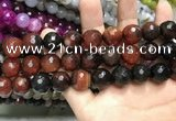 CAA3428 15 inches 14mm faceted round agate beads wholesale