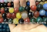 CAA3438 15 inches 14mm faceted round agate beads wholesale