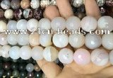 CAA3445 15 inches 16mm faceted round agate beads wholesale