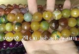 CAA3450 15 inches 16mm faceted round agate beads wholesale