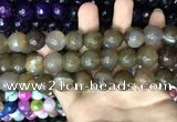 CAA3453 15 inches 16mm faceted round agate beads wholesale