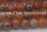 CAA3500 15.5 inches 4mm round AB-color fire agate beads wholesale